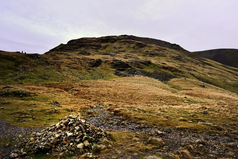 Download Cairn Below Great Gables Stock Photo - Image: 83716299
