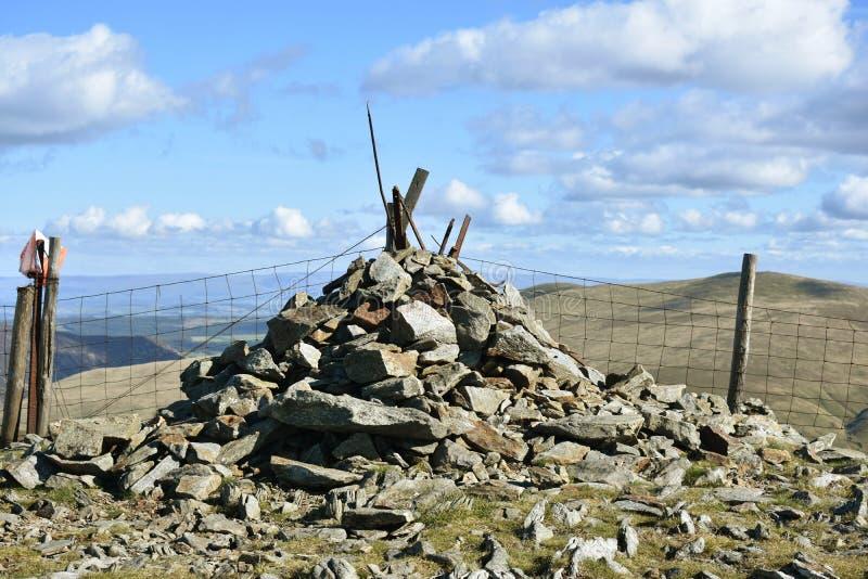 Cairn de sommet sur grand Calva, secteur de lac photos stock