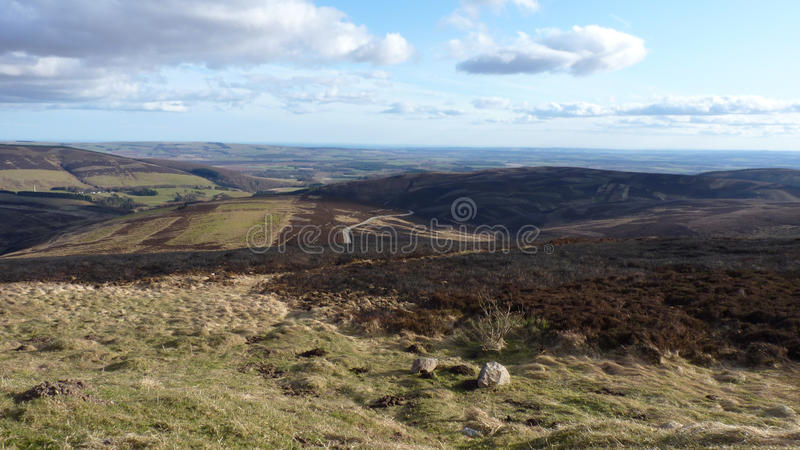 Cairn O' Mount hillside view stock image
