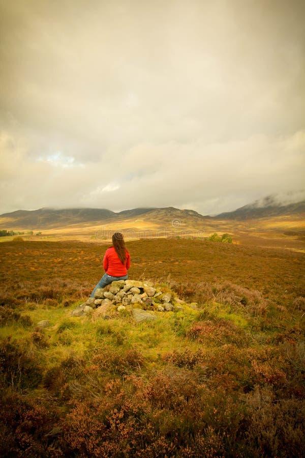 Cairngorms in Scozia fotografia stock