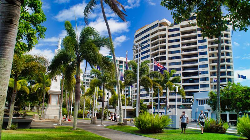 Cairns, Australien, Stadtansicht, Hotels und Resorts lizenzfreies stockbild