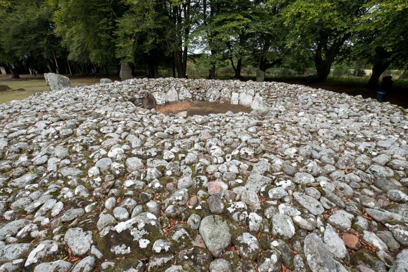 Cairns caves, sépulture bien préservée d'âge du bronze près d'Inverness dans les montagnes de l'Ecosse images libres de droits