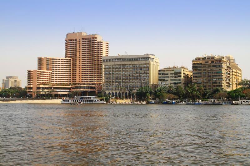cairo egypt nile flodlandskap royaltyfria bilder