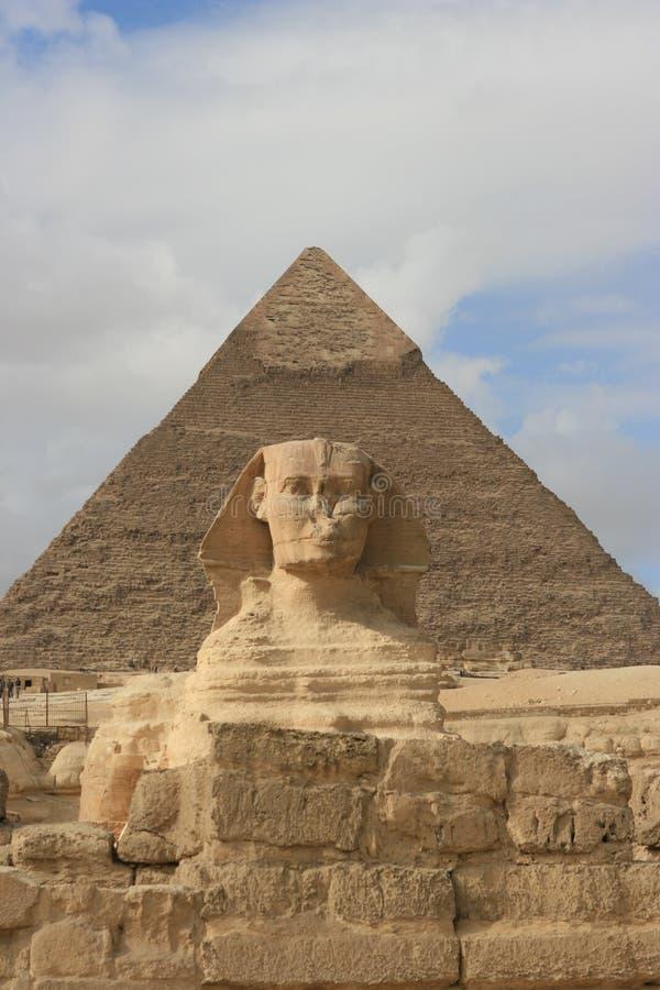 cairo egypt sphinx royaltyfria foton