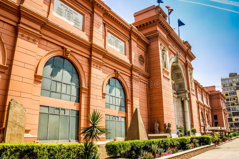 Cairo, the Egyptian Museum in Cairo, Egypt, Africa. stock images