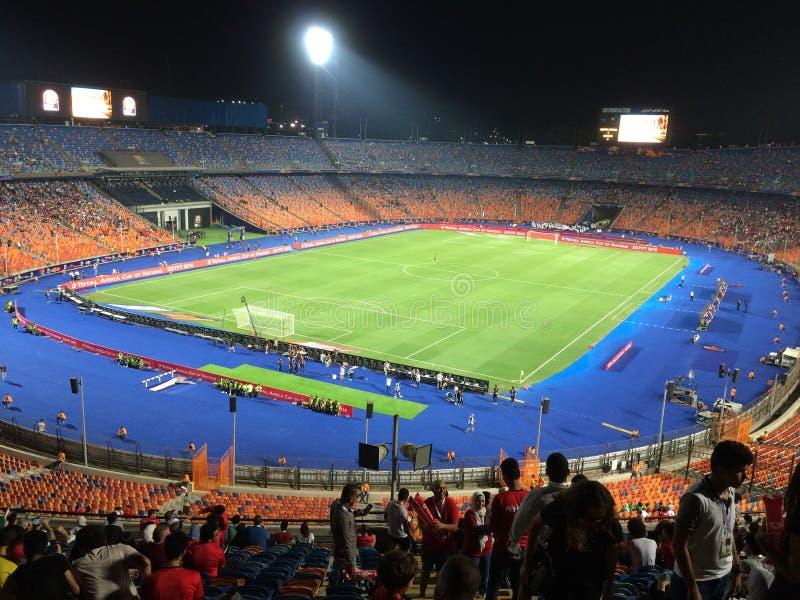 Cairo International Stadium. African Cup match South africa 1 vs 2 Nigeria stock photo