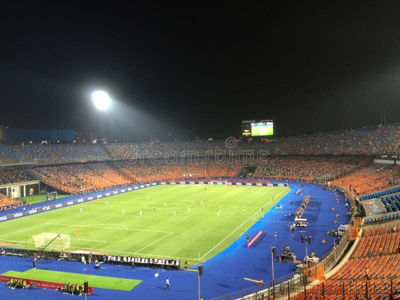 Cairo International Stadium. African Cup match South Africa 1 vs 2 Nigeria stock photography
