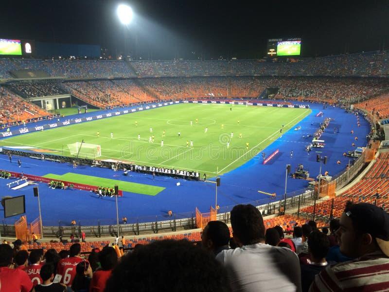 Cairo International Stadium. African Cup match South Africa 1 vs 2 Nigeria stock image