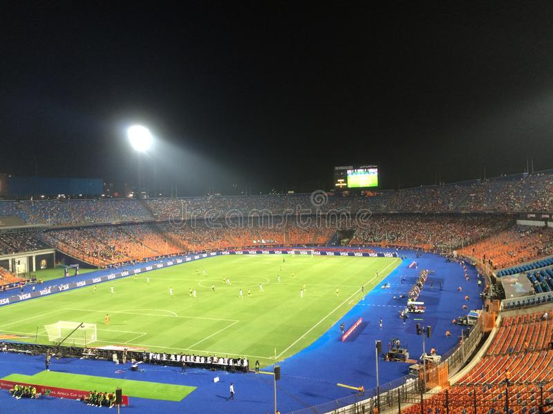 Cairo International Stadium fotografía de archivo