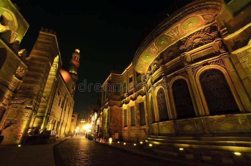 cairo islamisk natt arkivfoto