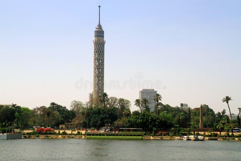 cairo miasta Nile rzeki sceneria fotografia royalty free
