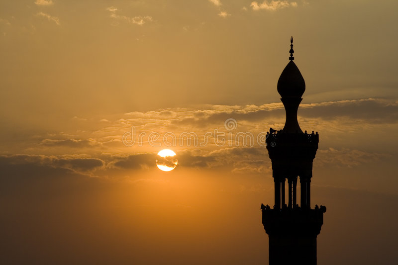 Cairo Mosque Minaret at Dusk