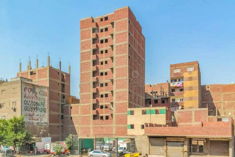 The streets of Cairo are overcrowded with people and waste products and a huge population density. Cairo are overcrowded with people and waste products and a royalty free stock image