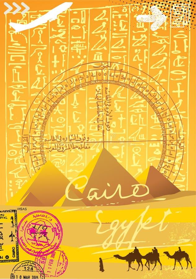 Cairo, pyramider och hieroglyphics