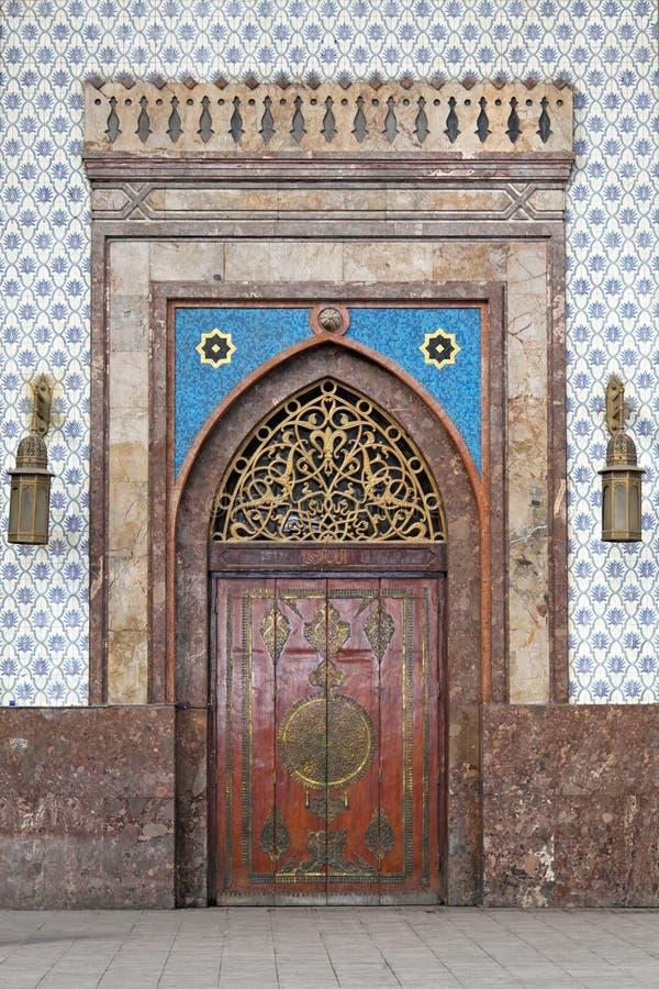 Cairo railway station. Medieval door at Cairo railway station Ramses stock photos