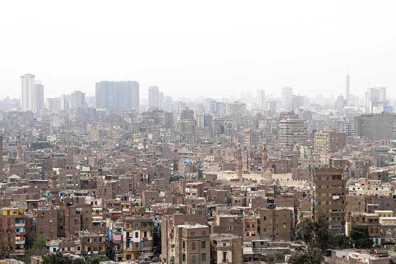 Download Cairo slums stock image. Image of exterior, slums, aerial - 28558167