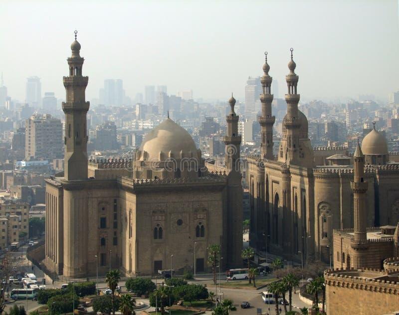 cairo wieczór meczetów czas obraz royalty free
