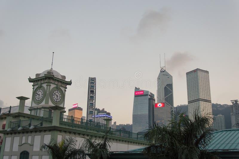 Cais central histórico da balsa da estrela em Hong Kong imagens de stock royalty free
