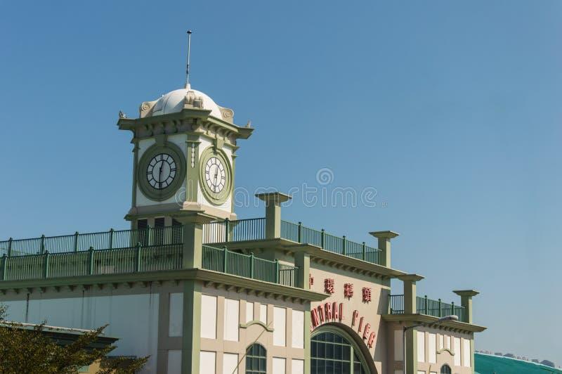 Cais central histórico da balsa da estrela em Hong Kong foto de stock