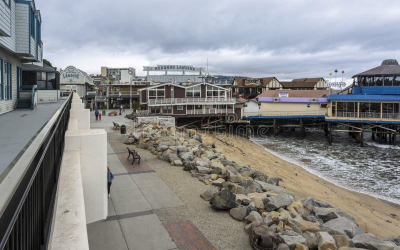 Cais da aterrissagem de Redondo, Redondo Beach, Califórnia, Estados Unidos da América, America do Norte foto de stock royalty free