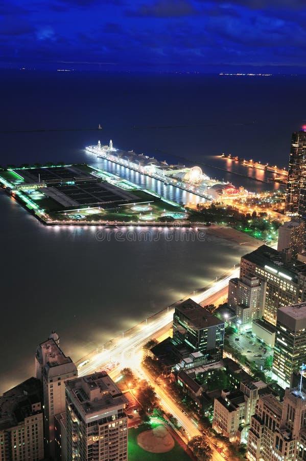 Cais da marinha de Chicago foto de stock