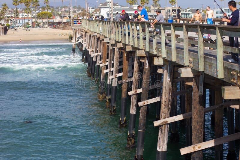 Cais da praia CA de Newport imagem de stock