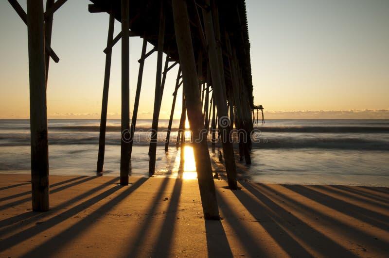 Cais da praia de Kure fotografia de stock royalty free