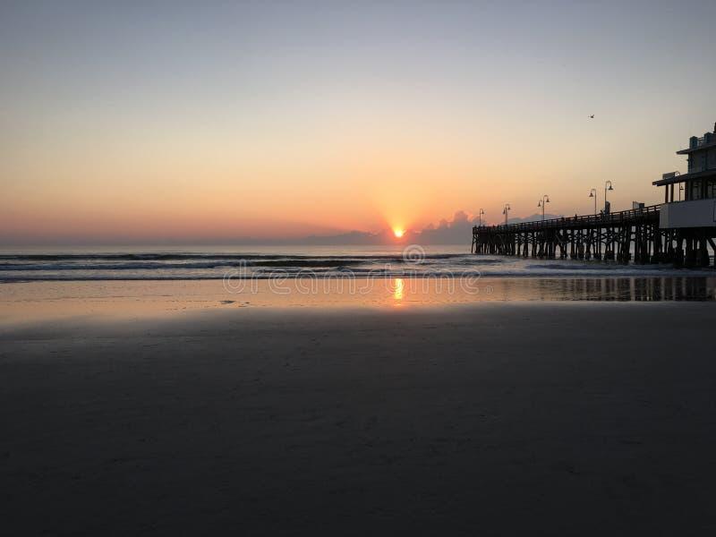 Cais de Daytona Beach foto de stock