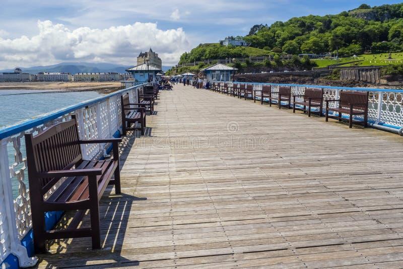 Cais de Llandudno, Gwynedd, Gales norte, Reino Unido, fotos de stock royalty free