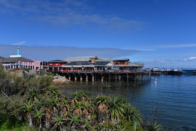 Cais de Monterey, costa central, Califórnia, EUA fotos de stock royalty free