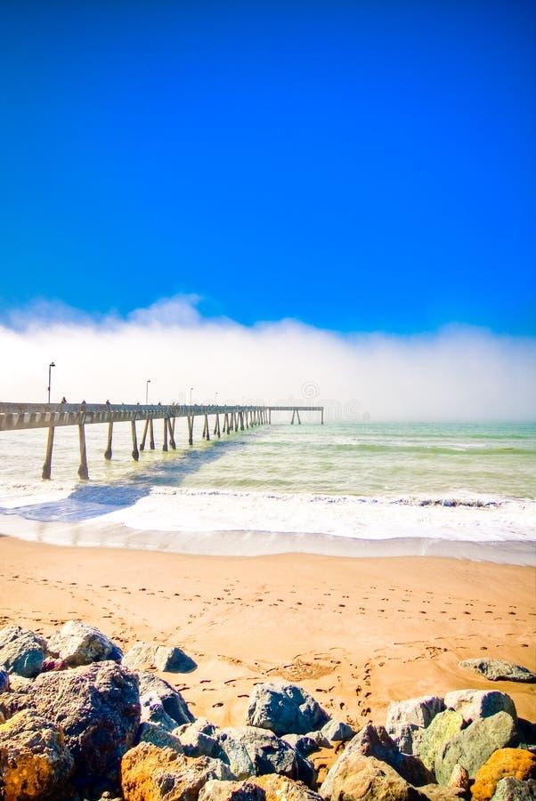 Cais de Pacifica, Pacifica, onda de Califórnia, mar fotos de stock royalty free