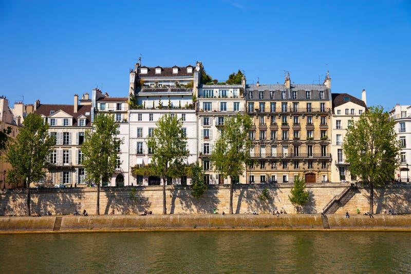 Cais de Paris fotografia de stock royalty free