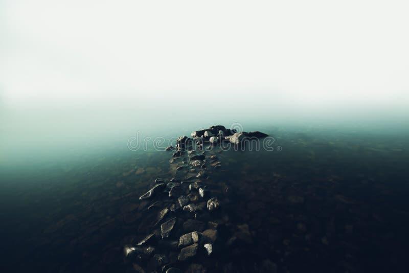 Download Cais De Pedra Na Névoa No Lago Baikal Imagem de Stock - Imagem de idyllic, manhã: 65580457
