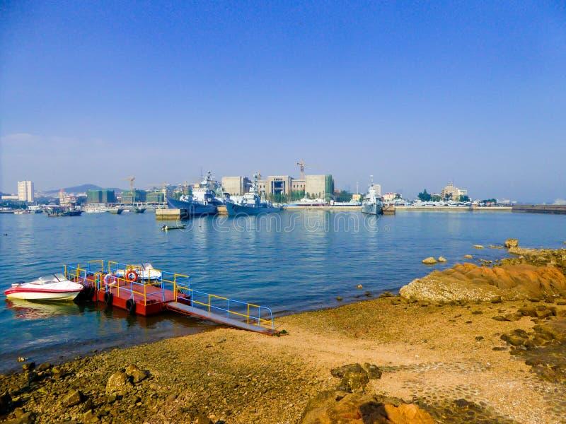 Cais de Qingdao fotos de stock royalty free