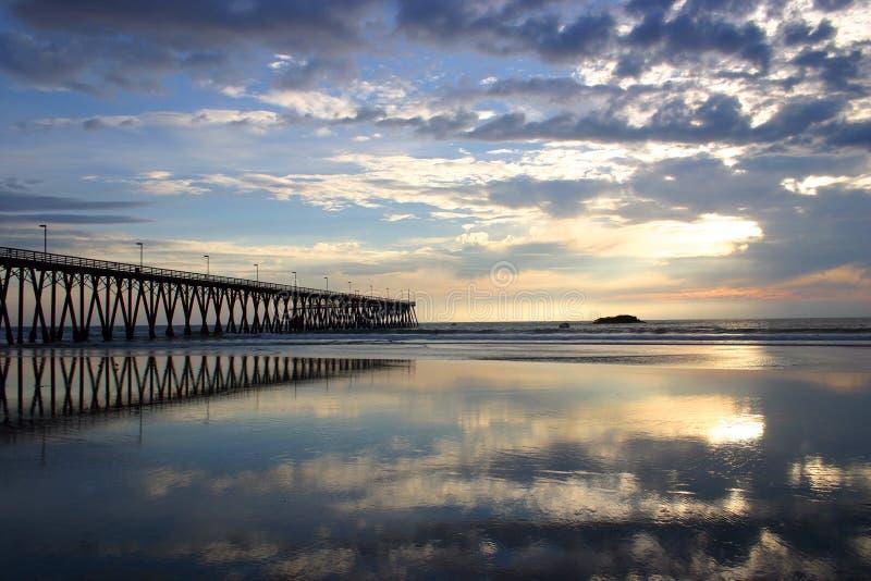 Cais de Rosarito e praia Rosarito, México foto de stock royalty free