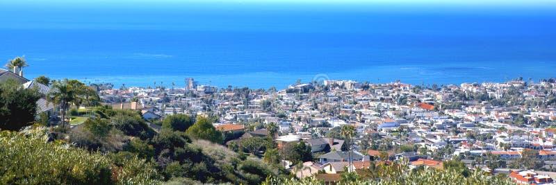 Cais de San Clemente tomado de Ridge enevoado fotos de stock royalty free