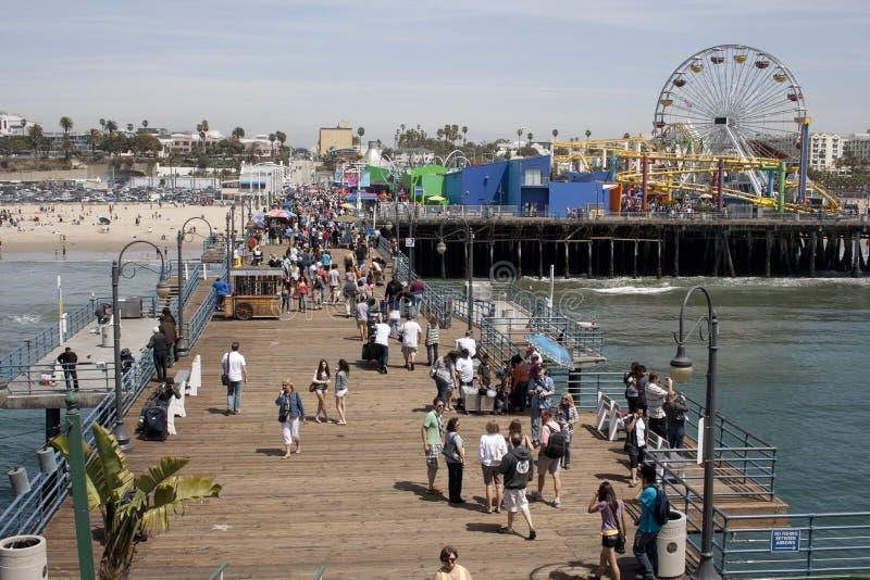 Cais de Santa Monica fotografia de stock