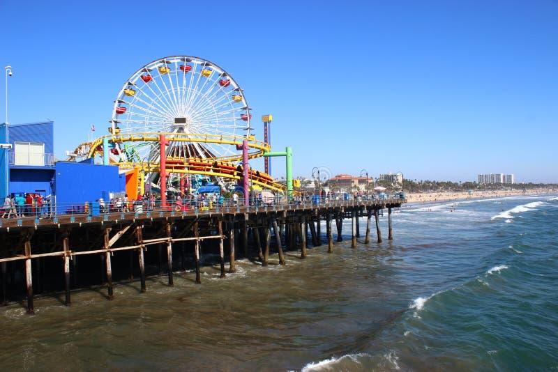 Cais de Santa Monica, Los Angeles imagem de stock