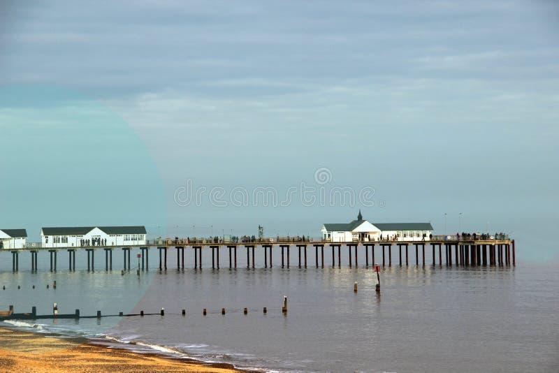 Download Cais de Southwold foto de stock. Imagem de seaside, prazer - 29834514
