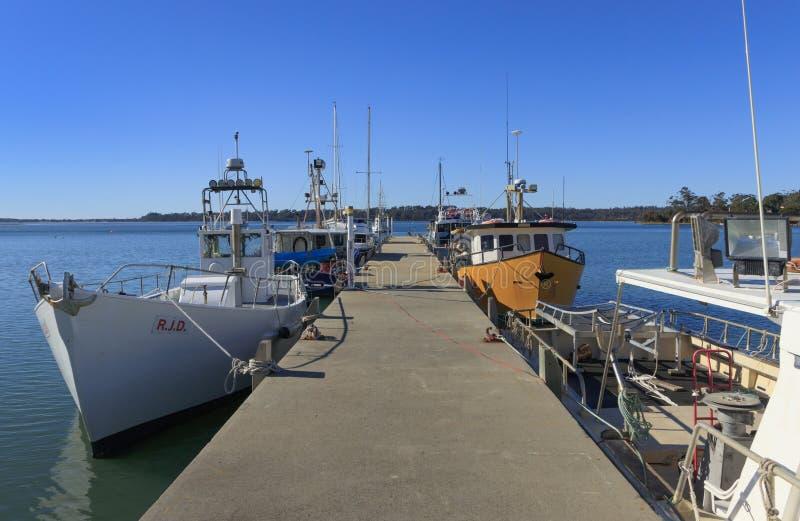 Cais de St Helens com barcos de pesca imagens de stock