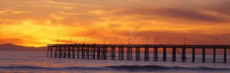 Cais de Ventura no por do sol. imagem de stock royalty free