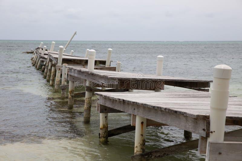 Cais destruído após o furacão fotos de stock royalty free
