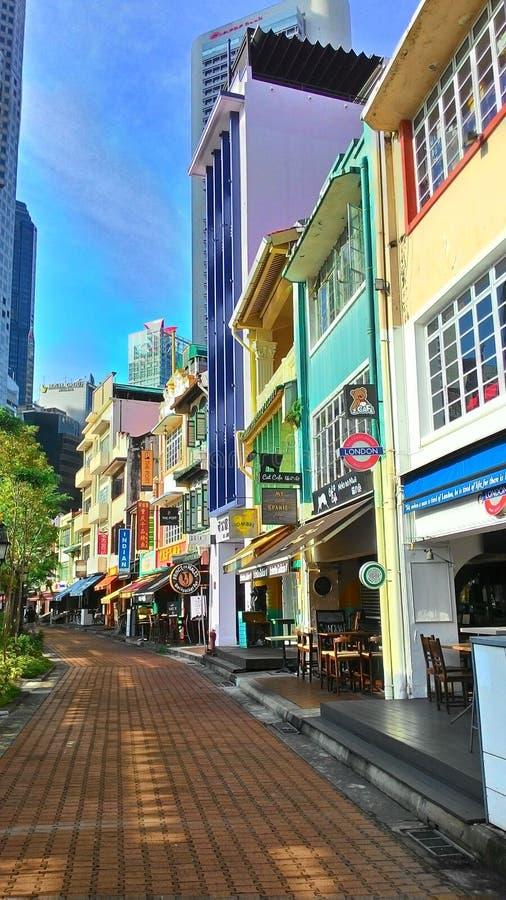 Cais do barco, Singapura imagens de stock