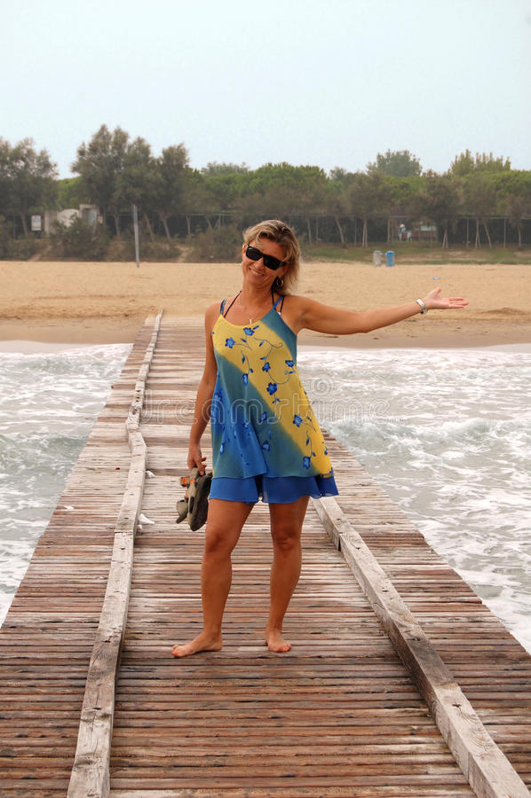 Cais do mar fotos de stock royalty free