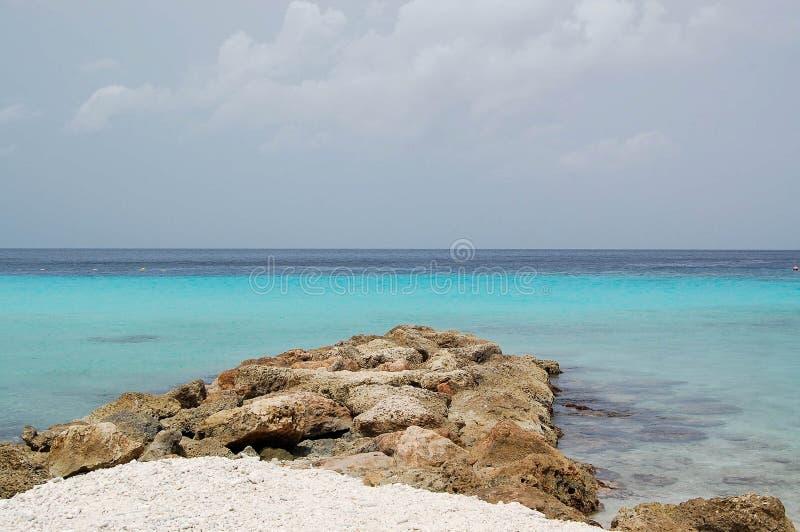 Cais do mar da rocha imagens de stock