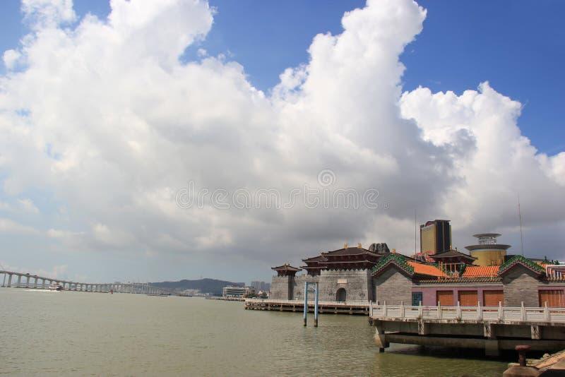 Cais do pescador de Macau fotos de stock