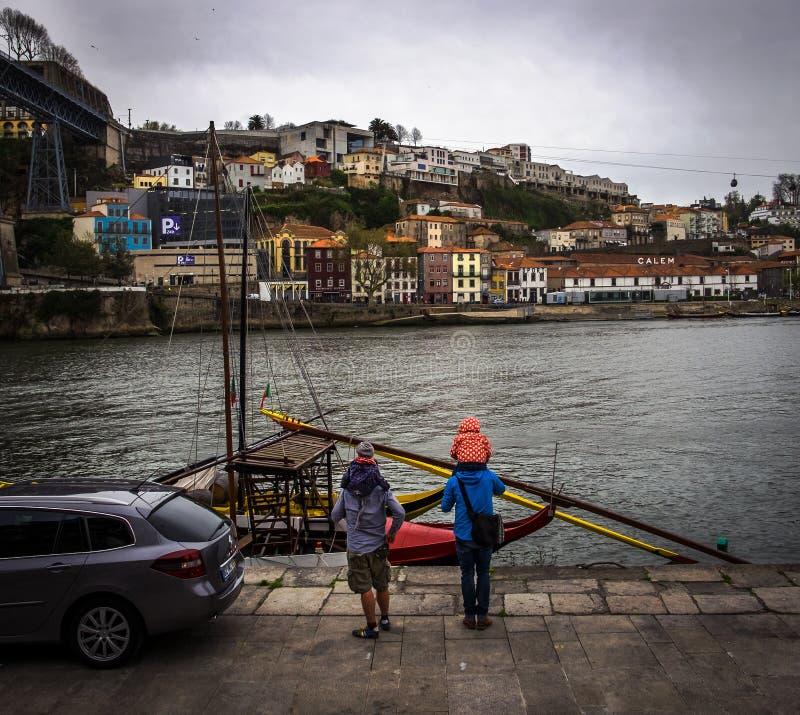 Cais do rio Duoro Cidade de Porto portugal fotos de stock