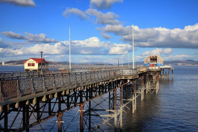 Cais dos Mumbles em Swansea fotos de stock