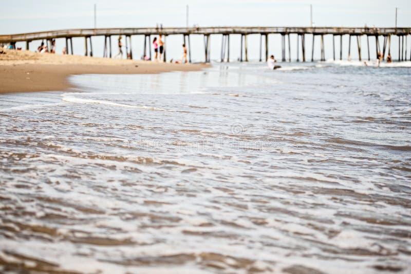 Cais em Virginia Beach imagens de stock royalty free