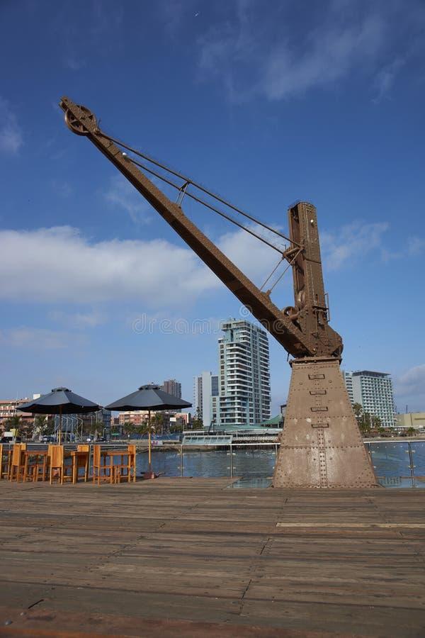 Cais histórico em Antofagasta, o Chile fotos de stock